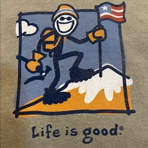Life is Good mountain climber long sleeve tee